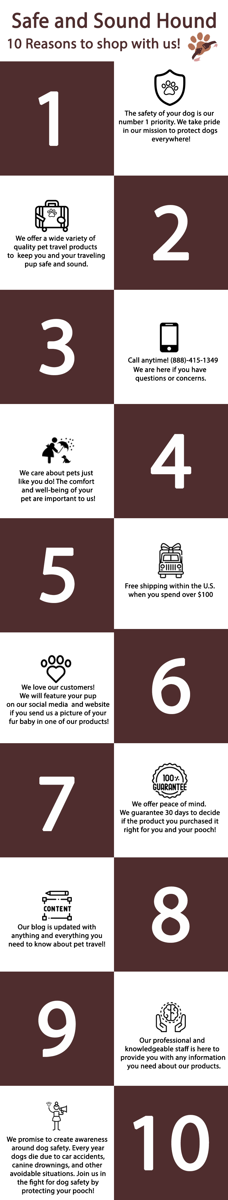 infographic - 10 reasons to shop with us